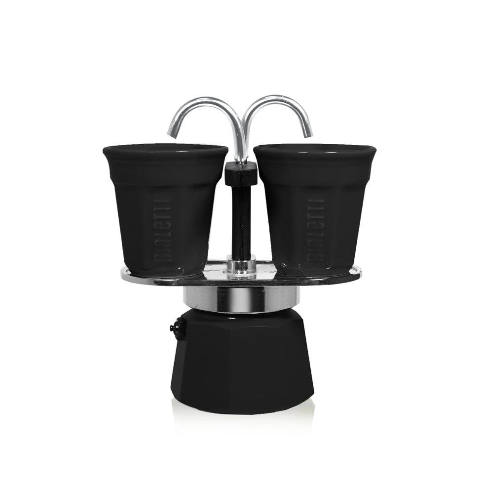 Cafetière fontaine noire 2 tasses
